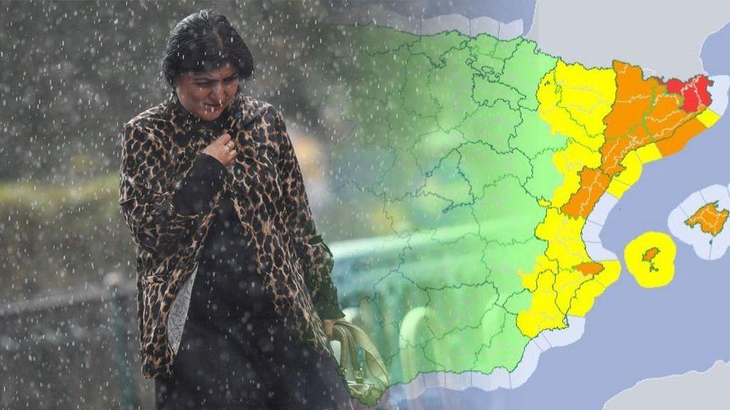 Aviso rojo en Cataluña: las tormentas podrán dejar hasta 300 litros/m2