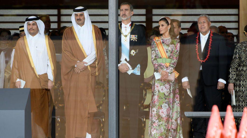 Felipe VI y Doña Letizia, durante la ceremonia de entronización de Naruhito