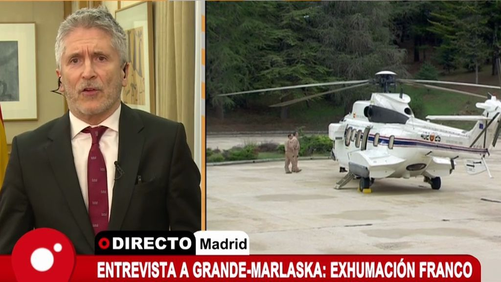 """Marlaska: """"La exhumación de Franco se realizará con seguridad, tranquilidad y dignidad"""""""