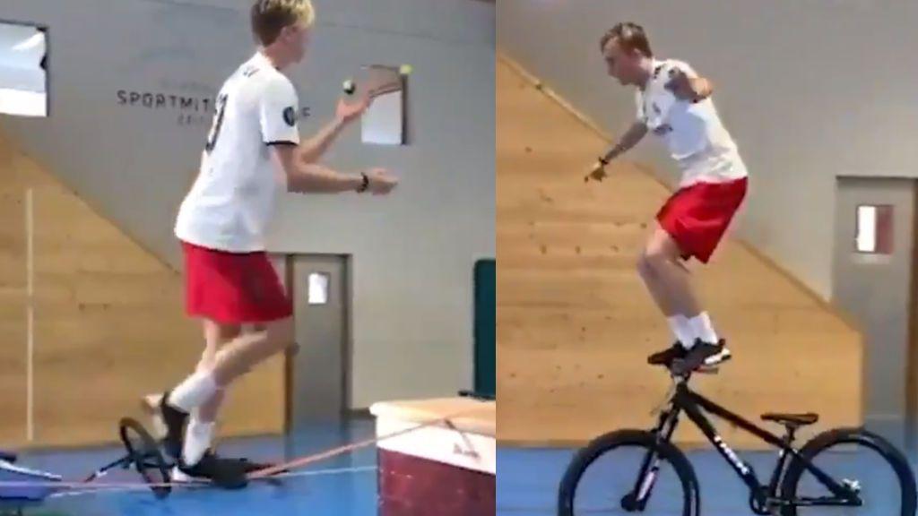 La rutina de entrenamiento que combina trucos del Circo del Sol y que hará que te duelan las piernas