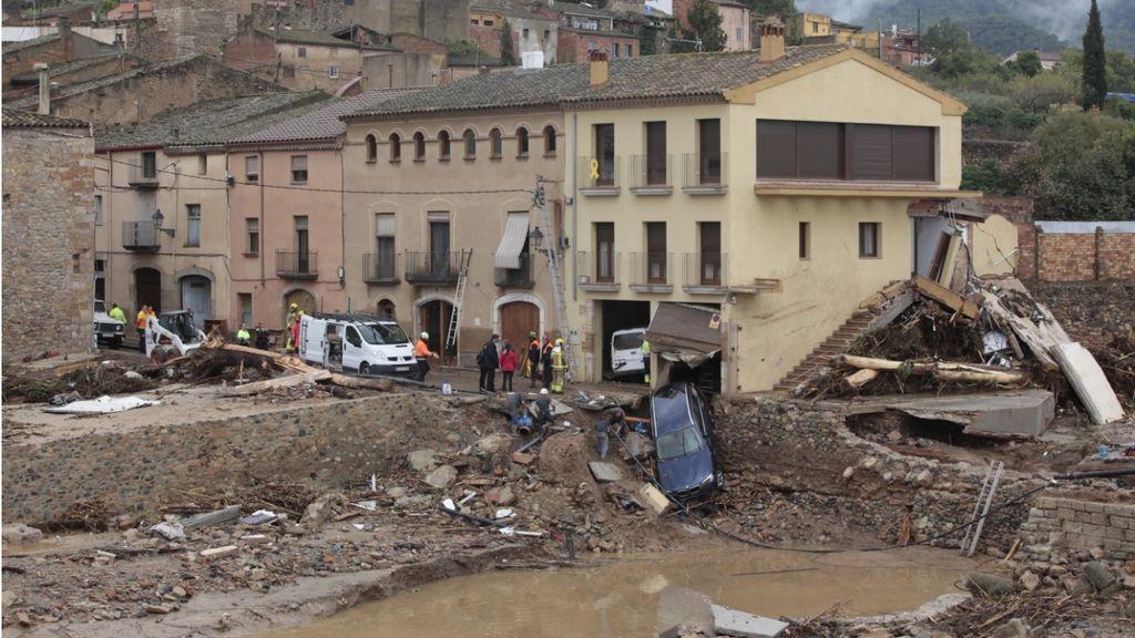 Montblanc queda arrasado por las lluvias torrenciales de la DANA