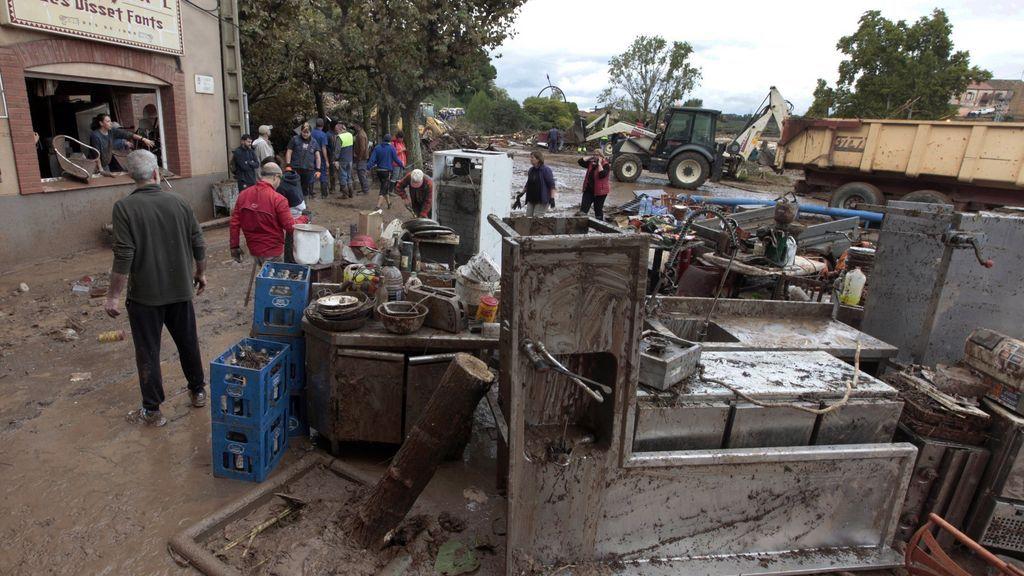 Daños causados por el temporal en Espluga de Francolí