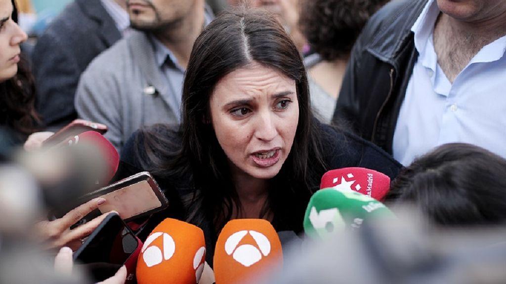 Irene Montero, en el centro de la polémica por pedir que se pare un desahucio difundiendo el nombre de la propietaria