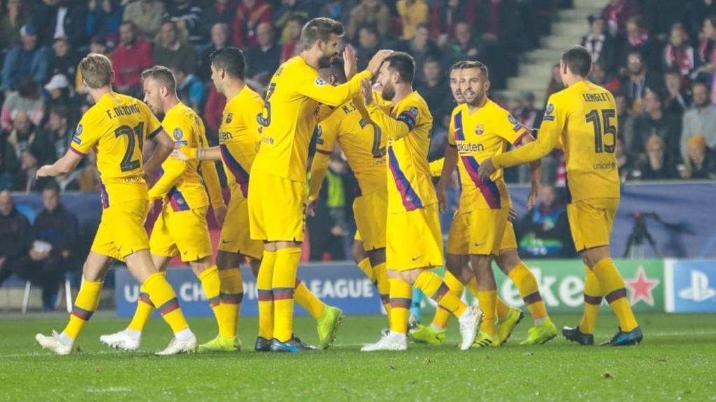 El Barça cumple ante el Slavia de Praga y consigue la victoria (1-2)