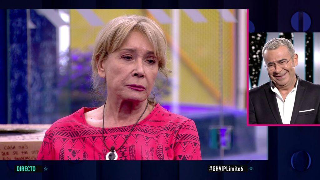 Mila Ximénez abandona la gala cansada de las bromas de Jorge Javier