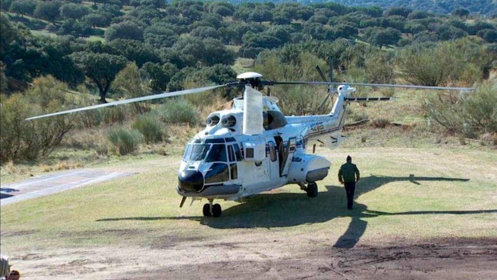 helicóptero en Mingorrubio