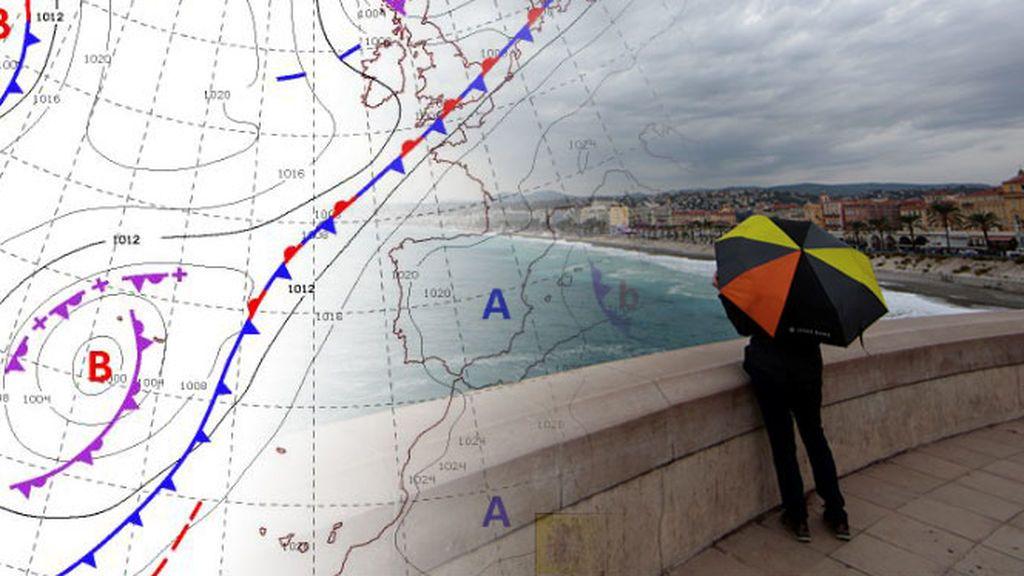Una borrasca atlántica se acerca el lunes: así nos podrá afectar