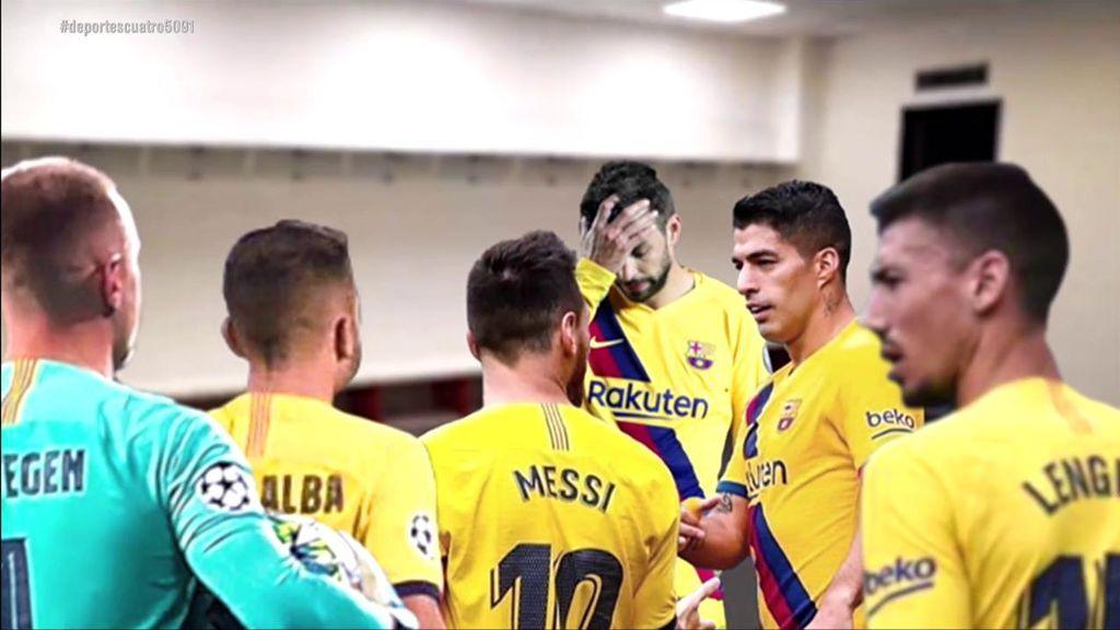 Qué se dijeron los jugadores del Barça en el vestuario
