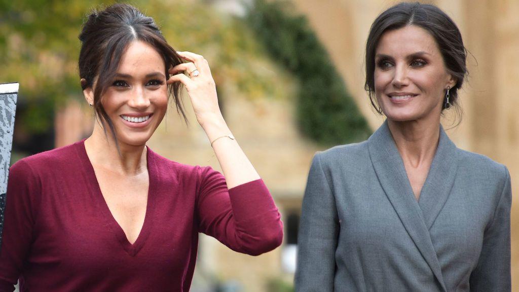 Meghan Markle y la reina Letizia se hacen eco del estilo 'royal'