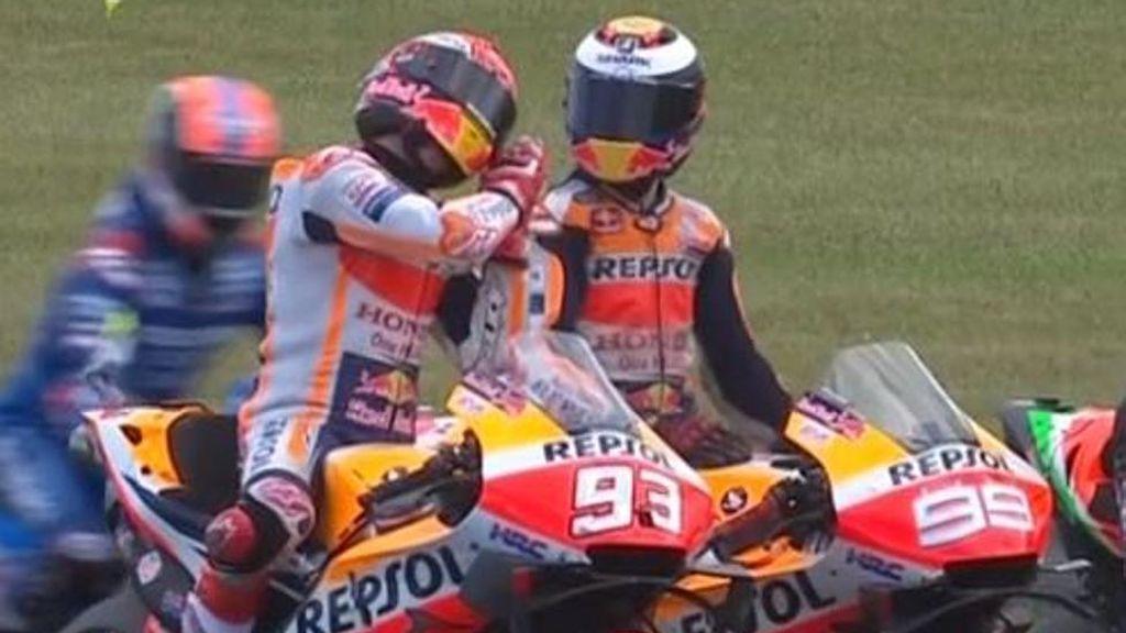 """Márquez, a Lorenzo tras estropearle una vuelta rápida: """"Estás dormido"""""""