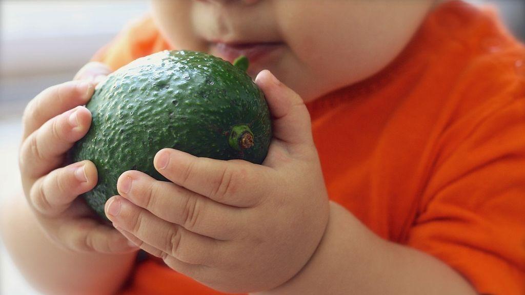 Niño comiendo aguacate