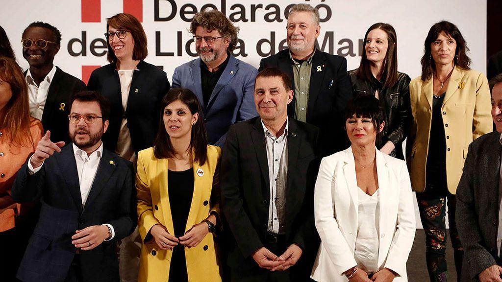 Partidos nacionalistas, sin PNV ni Compromis, se unen por la libertad de los presos del procés