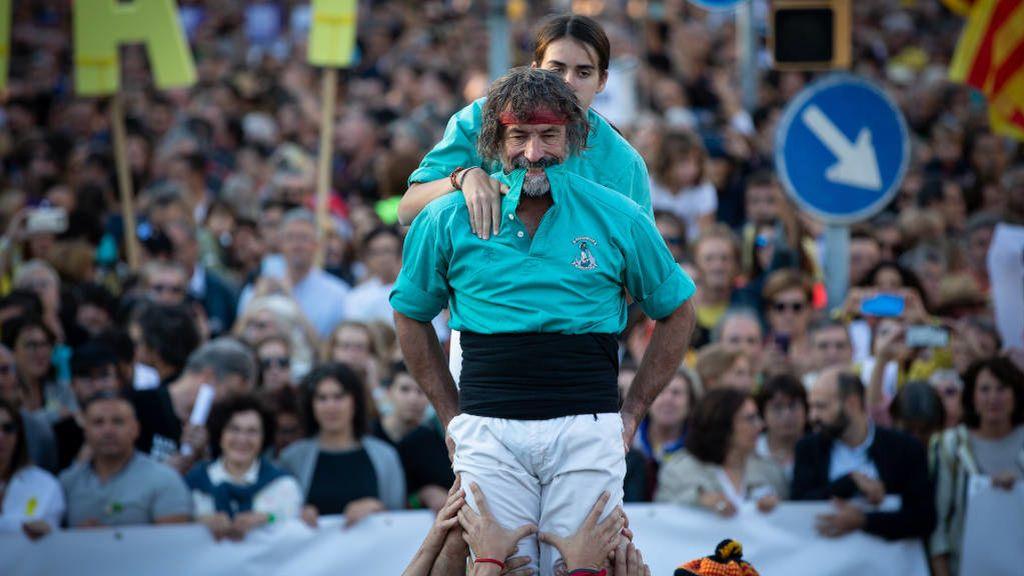 350.000 manifestantes a la marcha independentista, según la Guardia Urbana