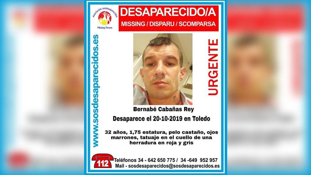 Buscan en el Tajo a Bernabé Cabañas Rey, un hombre de 32 años desaparecido desde el 21 de octubre