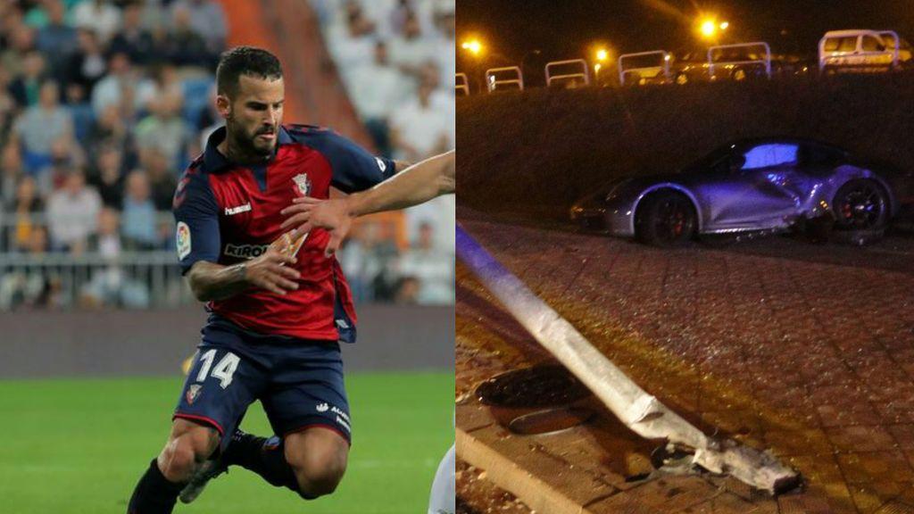 Rubén García, futbolista de Osasuna, se estrella contra una farola cerca del estadio del Sadar