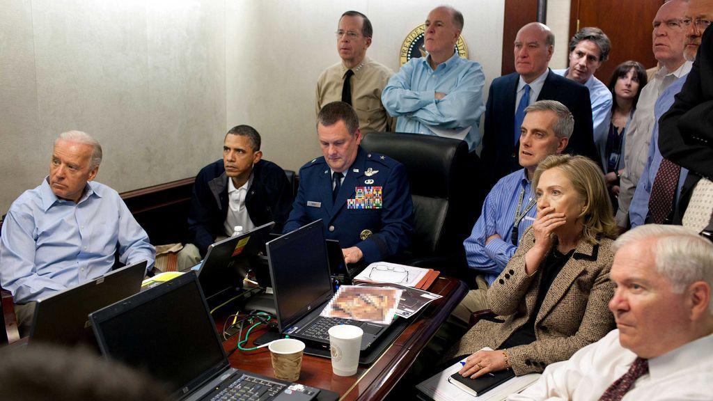 El 'Situation Room' durante la operación que acabó con la vida de Bin Laden