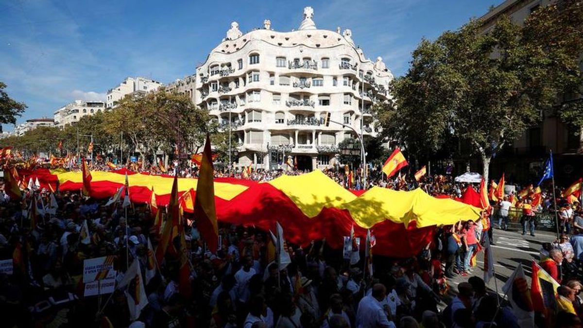 """La manifestación constitucionalista en Barcelona pide """"decir basta"""" al proceso independentista"""