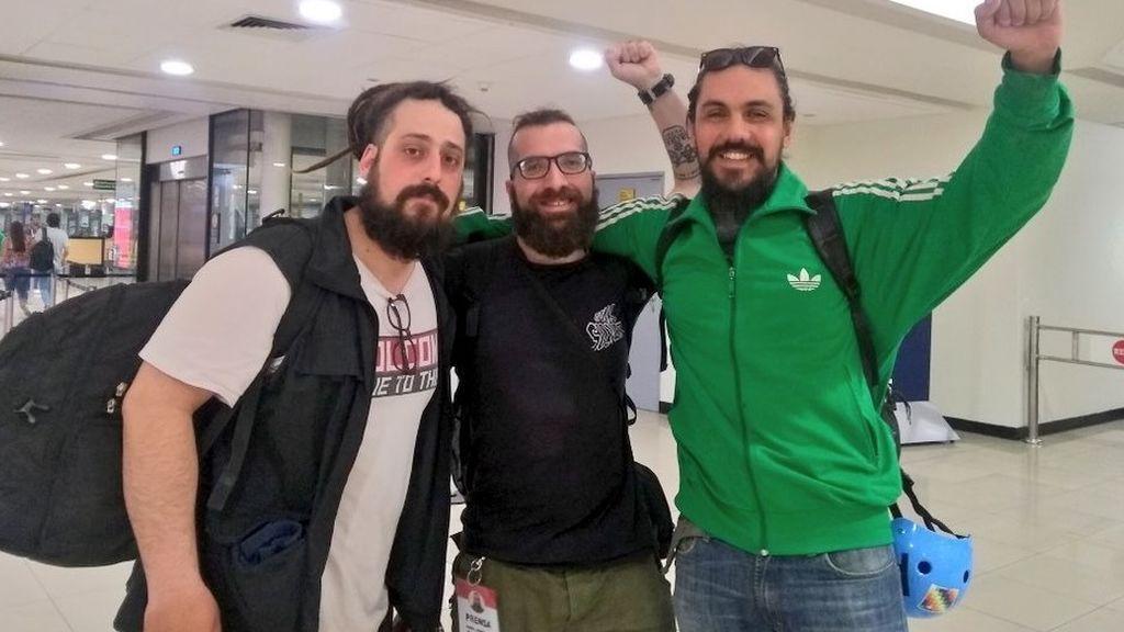 Entran en Chile los tres periodistas argentinos retenidos en el aeropuerto de Santiago de Chile
