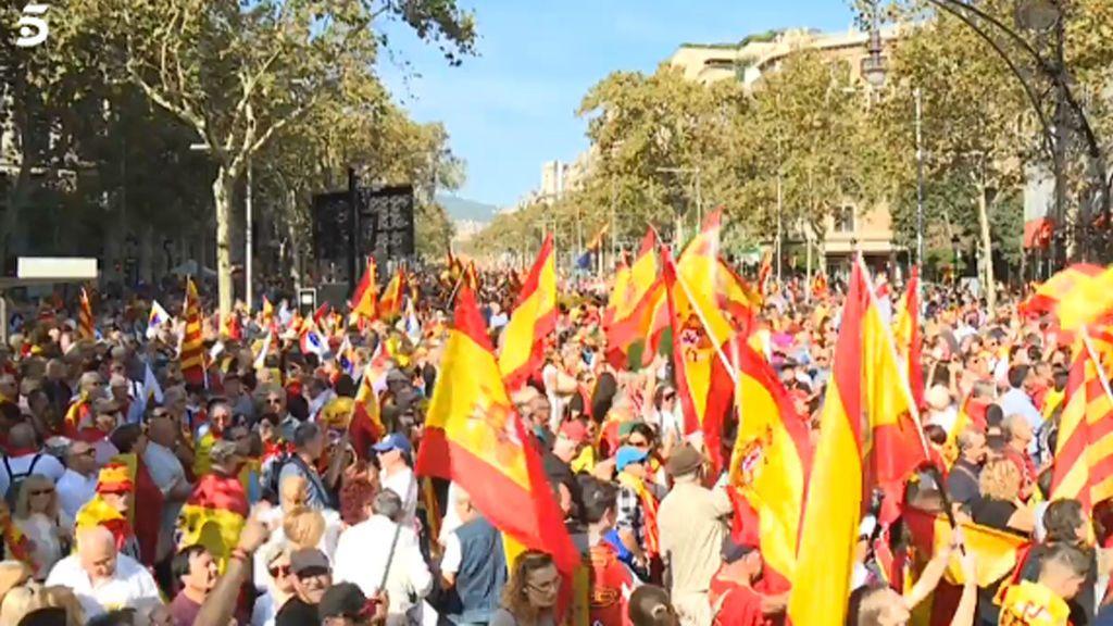 Imagen de la marcha de Sociedad Civil Catalana