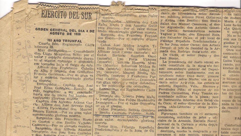 Recorte del Diario de Cádiz
