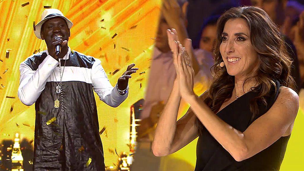Paz Padilla da su pase de oro al cantante 'Big Moon'