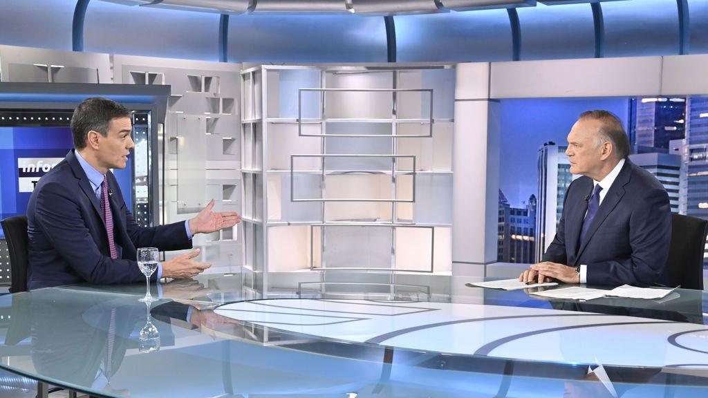 Pedro Sánchez en 'Informativos Telecinco'