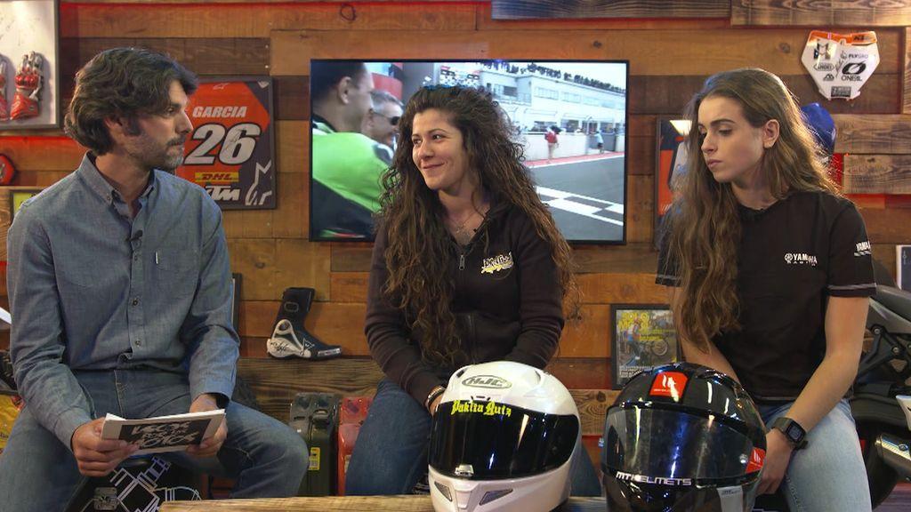 Recibimos en Locos por las motos a Pakita Ruiz y María Bellot, pilotos del SBK Femenino 600