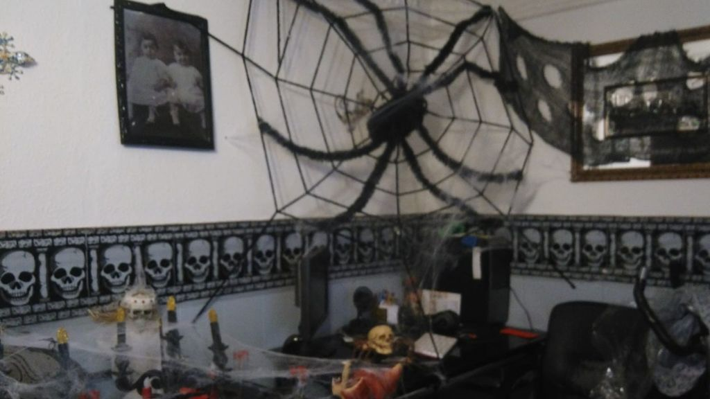 Esta es una de las decoraciones que se pueden ver en el interior de la vivienda