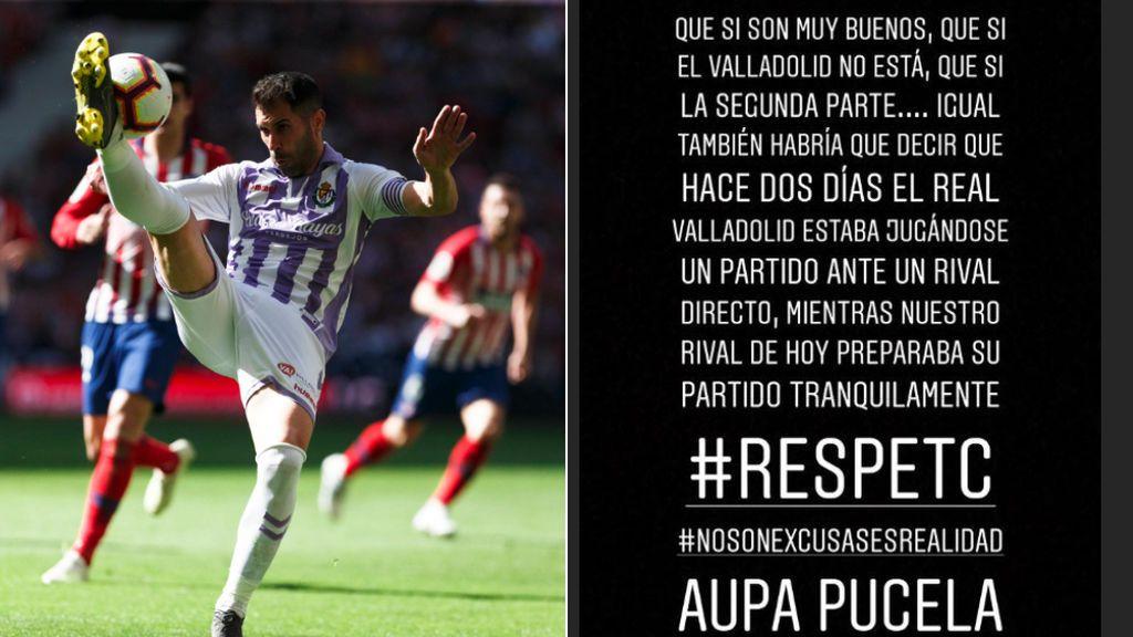 """El capitán del Real Valladolid estalla en redes por la diferencia de tiempo de preparación en su duelo ante el Barça: """"No son excusas, es realidad"""""""