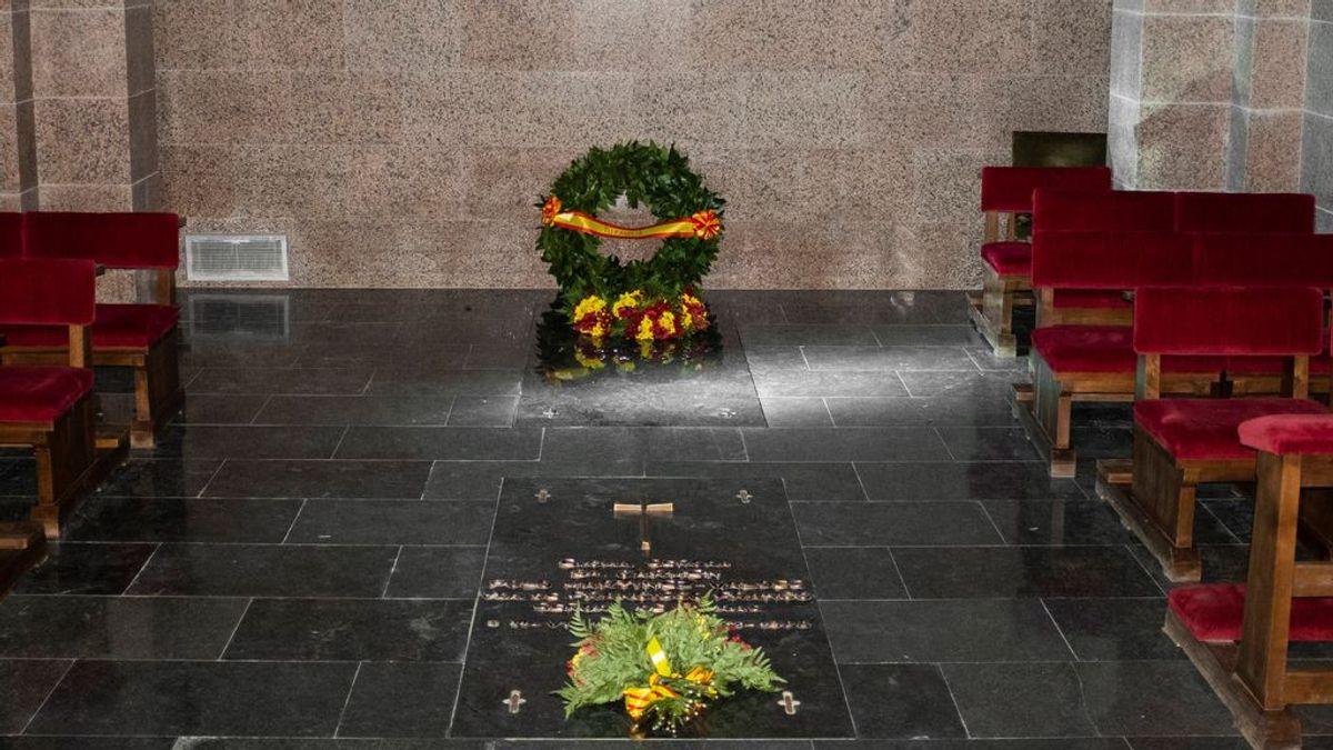 El Gobierno publica  las fotos de la tumba de Franco en Mingorrubio y mantiene la seguridad en la cripta
