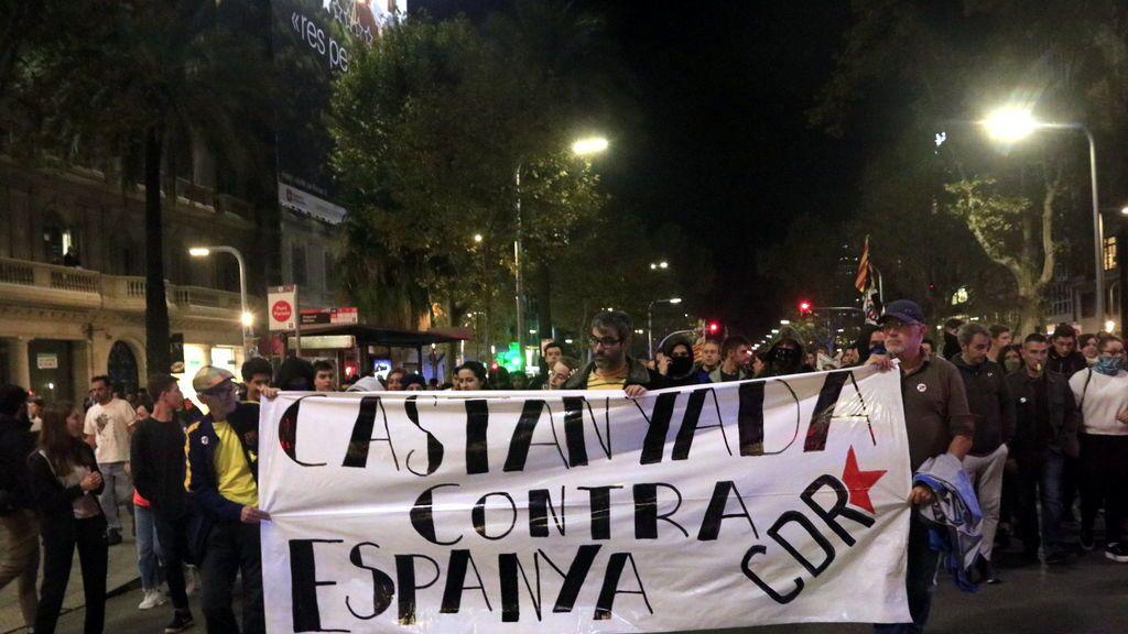 Las protestas en Cataluña se cronifican pero bajan el listón