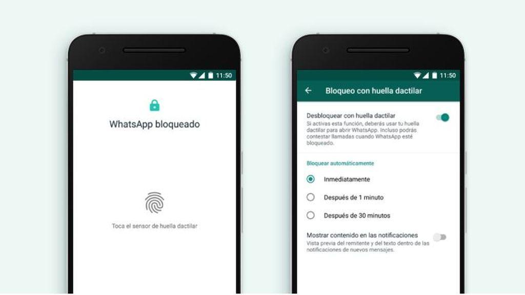 WhatsApp ya tiene bloqueo mediante huella dactilar en Android: así se configura