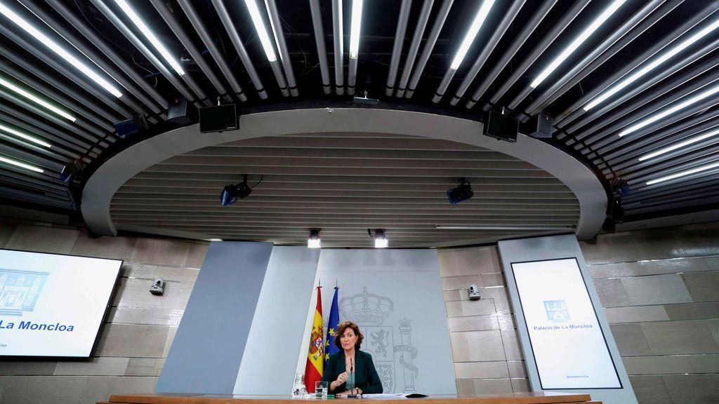 Carmen Calvo, en Moncloa