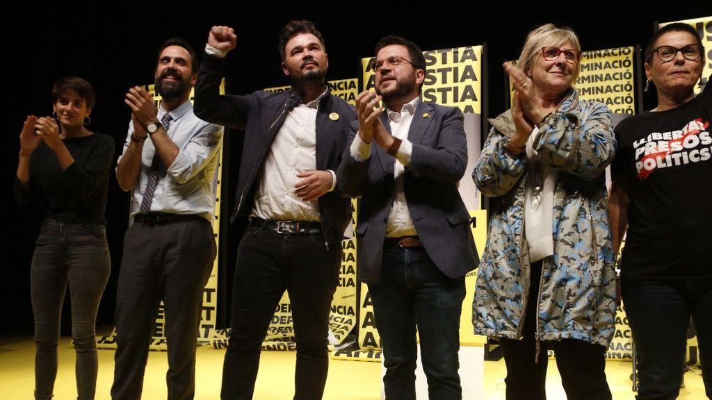 JxCat, ERC y la CUP inician su disputa por los votos independentistas en la carrera hacia el 10N