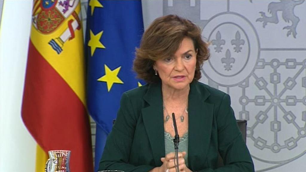 En directo: Carmen Calvo comparece tras el Consejo de Ministros