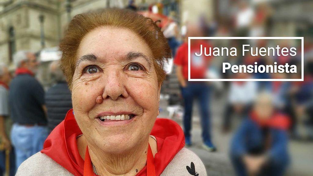 """Juana Fuentes, pensionista de Bilbao: """"En cuanto pasen las elecciones, los políticos se olvidarán de nosotros"""""""