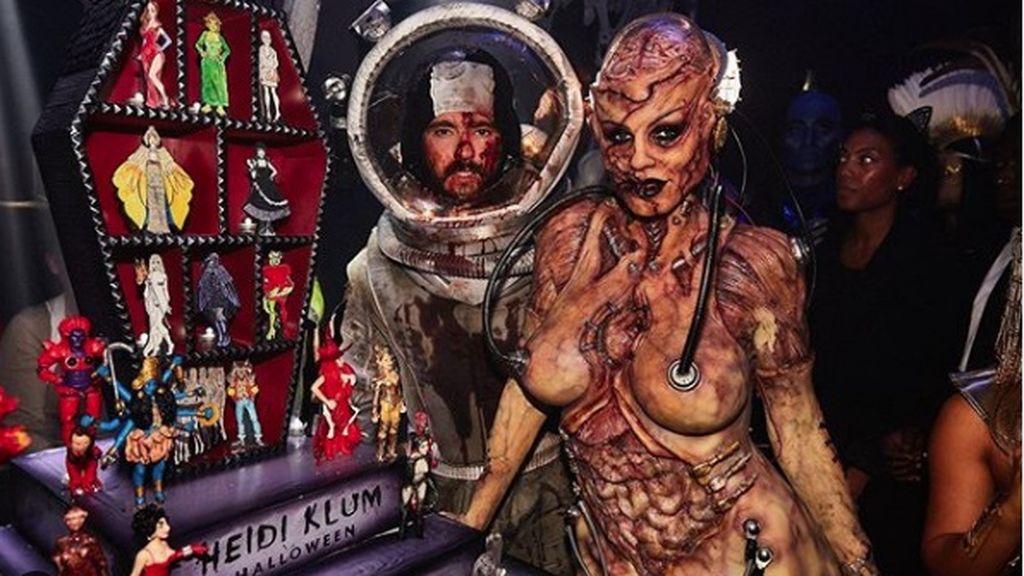 Heidi Klum y su marido el cantante Tom Kaulitz vuelven a arrasar con sus disfraces de Halloween