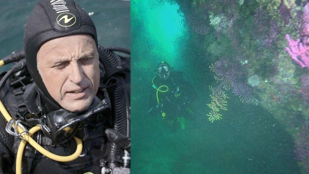 Jesús Calleja y su emoción en el fondo marino de Cap de Creus