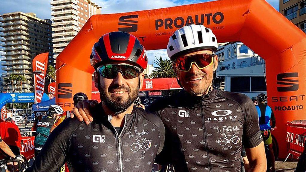 Aparece Luis Enrique en una prueba ciclista más de dos meses después de la muerte de su hija Xana