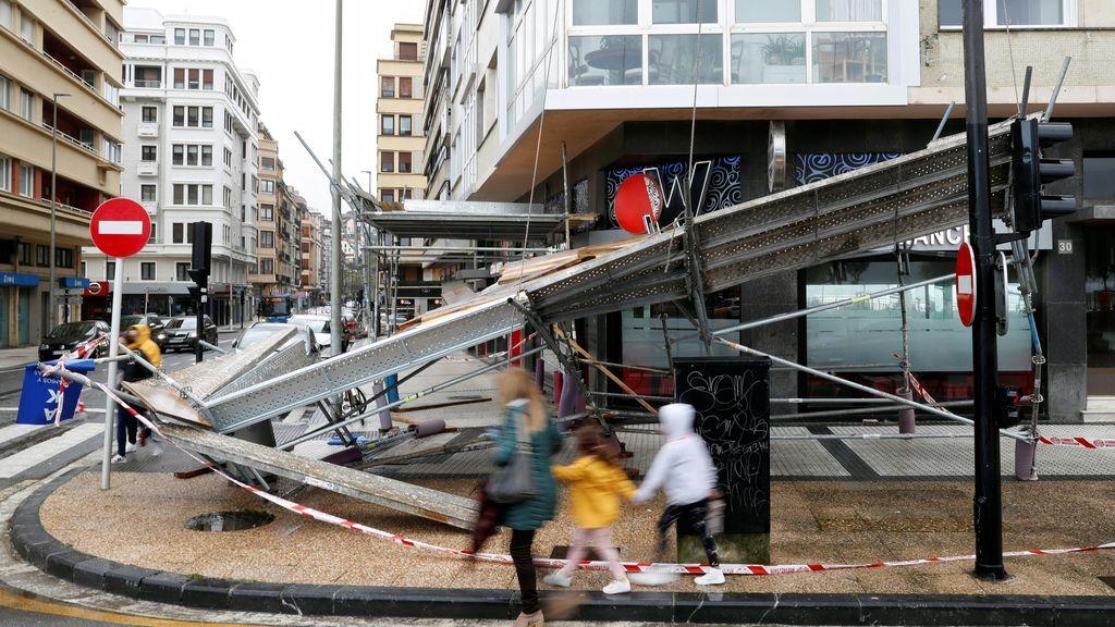 Desperfectos en San Sebastián