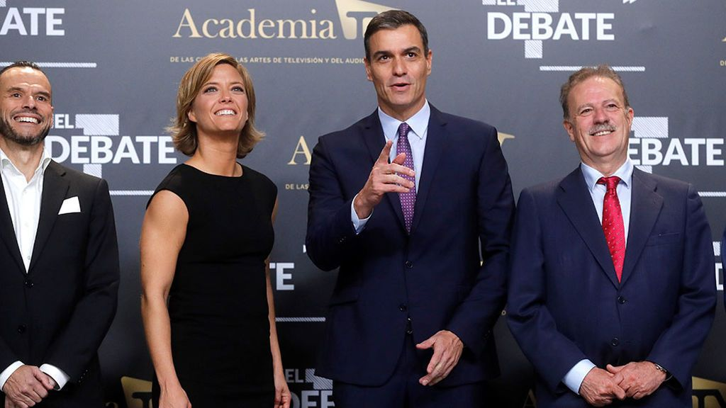 Pedro Sánchez llega al debate