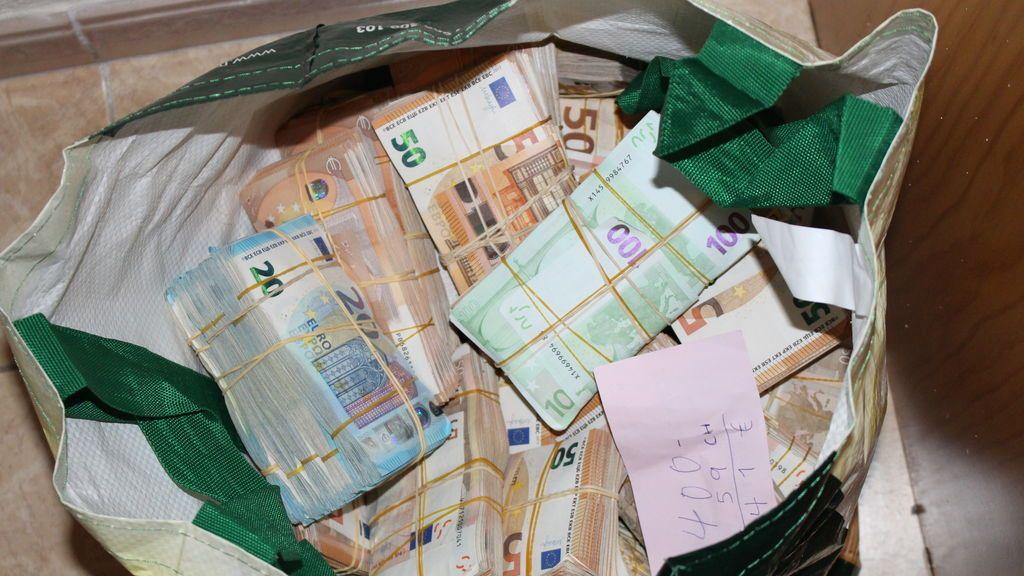 Bolsa con el dinero de Sito Miñanco
