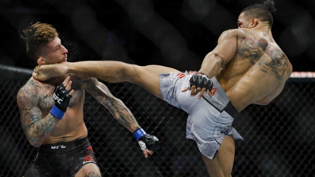 Kevin Lee con un patadón en la cara se convierte en el KO de la noche en la UFC 244