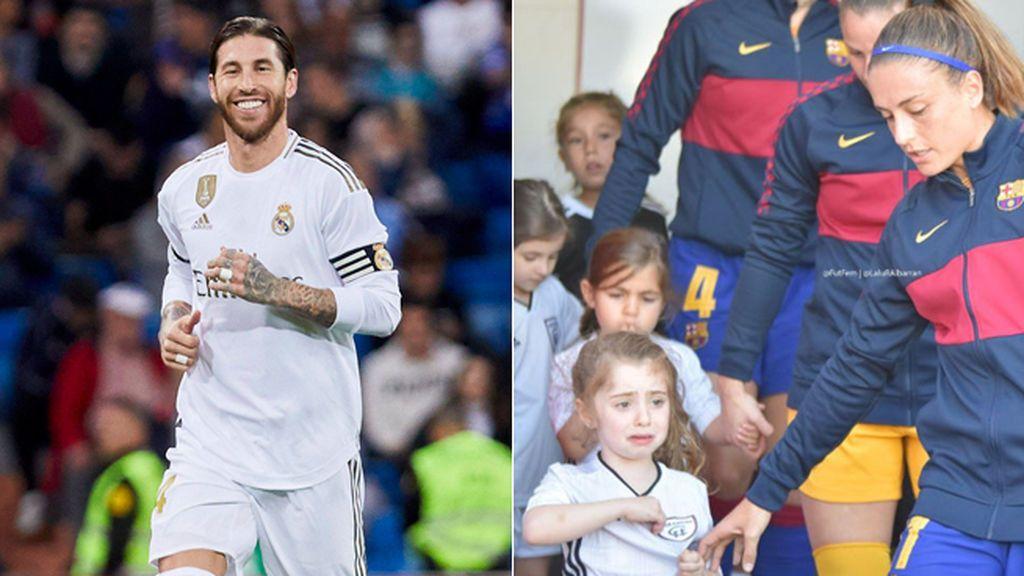 Sergio Ramos cumple el sueño de Daniela: la niña madridista que lloró por salir de la mano de una futbolista del Barça