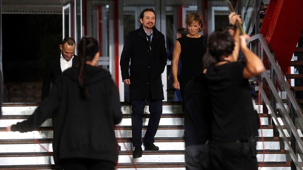 Pablo Iglesias llega al debate