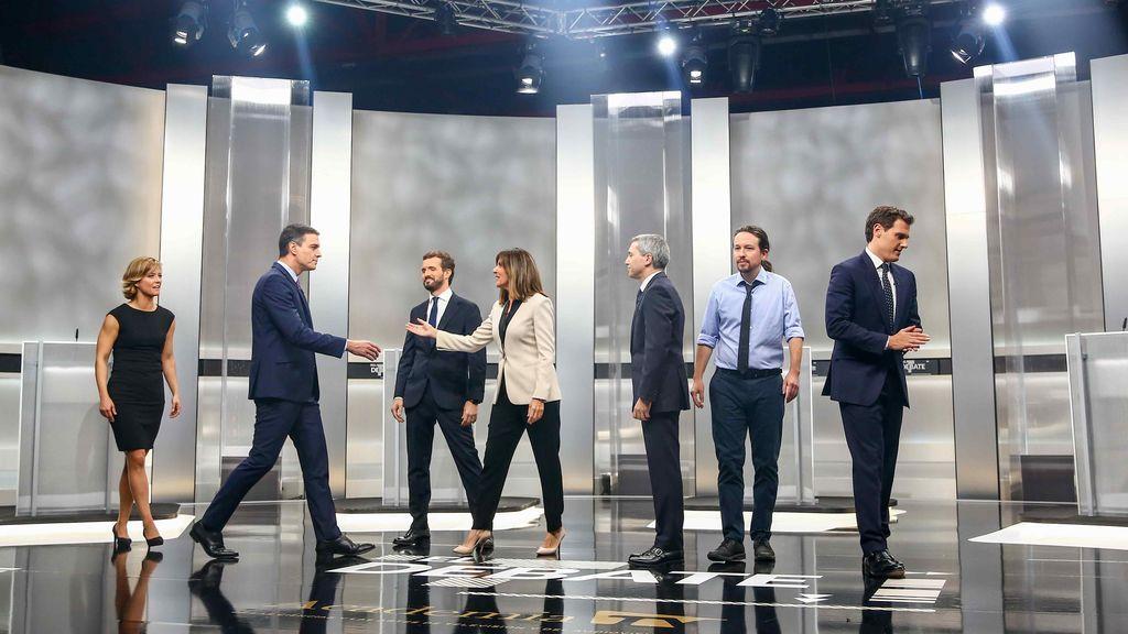 Imagen del debate electoral