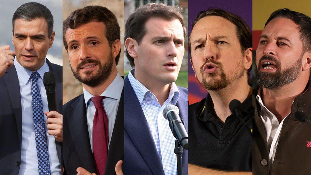 """Los candidatos apelan al """"voto últil"""" para sus partidos"""