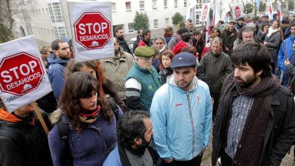 Paralizado el desahucio de una familia con cuatro hijos menores en Madrid