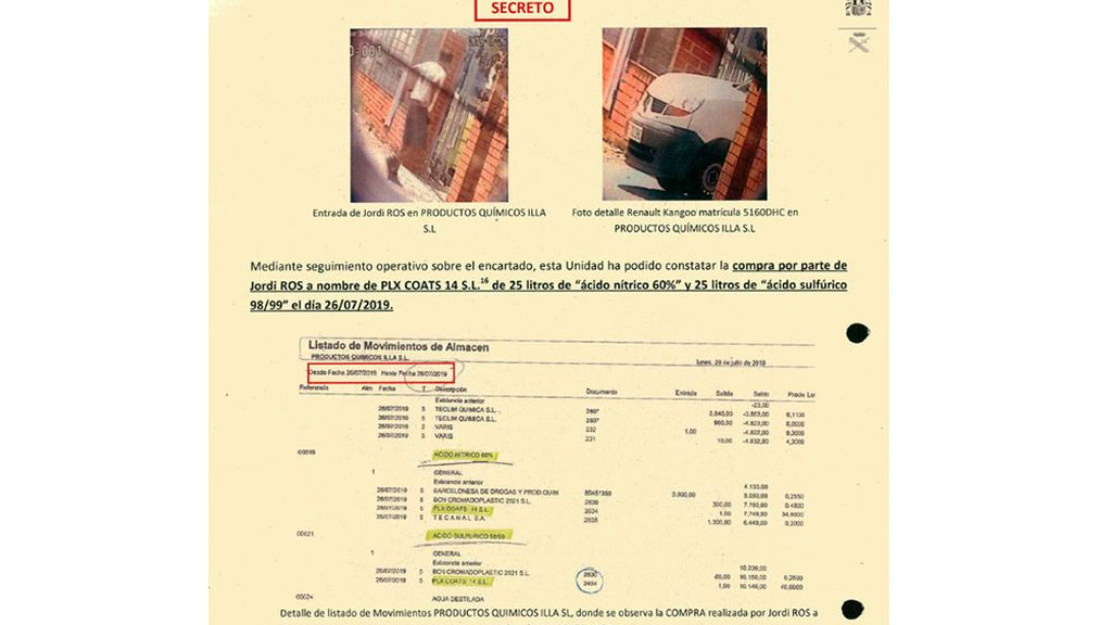 Las pruebas de que los CDR preparaban explosivos