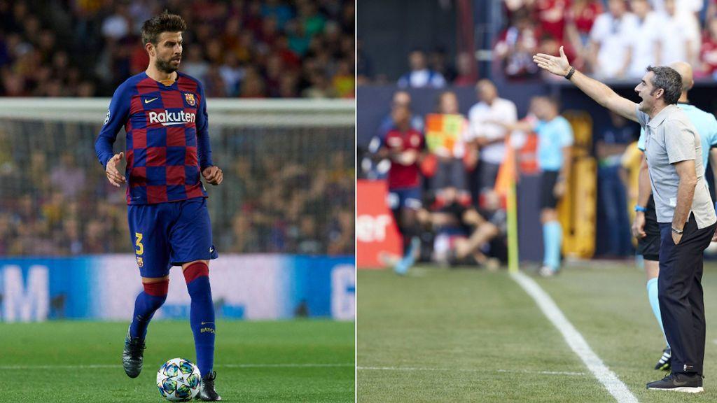 """Piqué pide paciencia a la afición tras los últimos resultados y Valverde le rectifica: """"Paciencia no, debemos tener insistencia"""""""